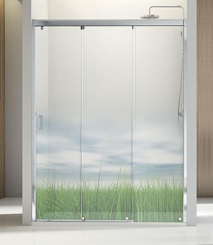 Mamparas Para Baño A Medida:Mamparas para bañera o ducha de hojas correderas o correderas y fijas