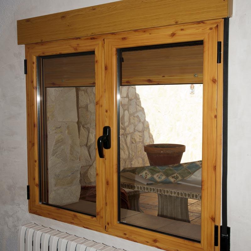 Mallorquinas persianas y mosquiteras aluminer for Ventanas de madera precios en rosario